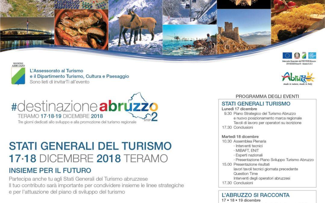 Stati Generali del Turismo 17-18 dicembre 2018 Teramo   Insieme per il futuro