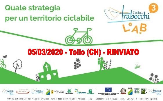 Costa dei Trabocchi LAB3: Quale strategia per un territorio ciclabile: 5-17-19 marzo 2020 – Programma