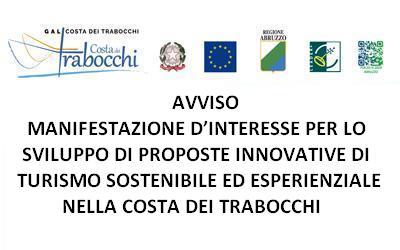 Avviso Manifestazione d'interesse per lo sviluppo di proposte innovative di turismo sostenibile ed esperienziale nella Costa dei trabocchi