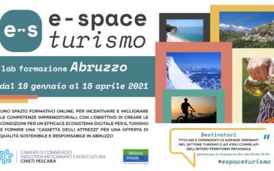 Presentazione E-SPACE TURISMO LAB FORMAZIONE ABRUZZO: 8 gennaio 2021